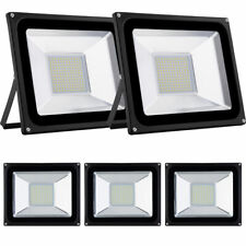 5X 100W LED Security Floodlights Outdoor Garden Spot Lights Lamp Warm White IP65