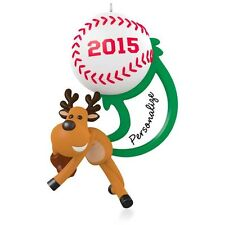 Hallmark 2015 Star Slugger Baseball Reindeer You-Personalize Christmas Ornament