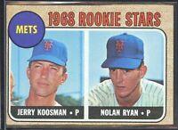 Nolan Ryan Jerry Koosman 1968 Topps Mets Rookie Stars baseball card RC #177