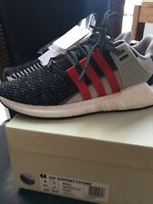 Adidas x Overkill EQT Support Future Coat of Arms Grey Red Black Size 8 BY2913