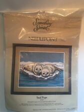 "Something Special Needlepoint Kit Seal Pups 30347  18"" x 14"" Candamar Designs"