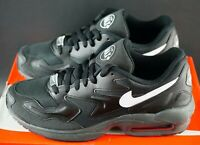 NIKE AIR MAX 2 LIGHT Black White Trainers Sneakers Size UK 8 EU 42.5 US 9 BNIB