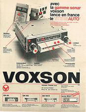 PUBLICITE ADVERTISING 035  1967  Les auto-radio  VOXON  gamme  SONAR
