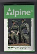 ALPINE MINIATURES 35144 - GERMAN MOTORCYCLIST SET - 1/35 RESIN KIT