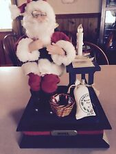Musical Santa W/lighted Candle At Desk Plays Several Christmas Carols Original B