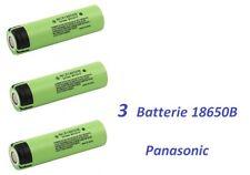 3 Batterie ricaricabili Li-ion PANASONIC NCR 18650 B  3400 mAh 3,6V  6,5A