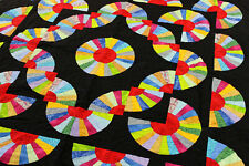 Amish styled Dancing Fans FINISHED QUILT - Patchwork Borders