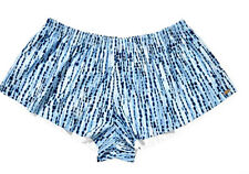 Mambo Women 12 14 Blue White Tye Dye High Cut Swim Shorts Board Shorts Swimwear