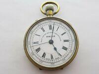 Antique  Amida Best Centre Seconds Chronograph  Pocket Watch Swiss Made Rare