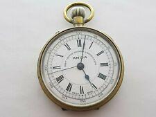 Antique  1910 Amida Best Centre Seconds Chronograph  Pocket Watch Swiss  Rare