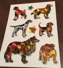 Vintage  Prismatic DOGS (bulldog,beagle,boxer,collie,pointer, shepherd) 80's