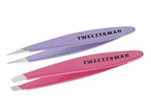 TWEEZERMAN - Mini Slant & Point Combo Set - Brand NEW SEALED! Fast FREE Shipping