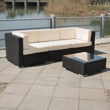 In/Outdoor Wicker Patio Rattan Sofa Set Sectional Furniture Garden Deck Couch