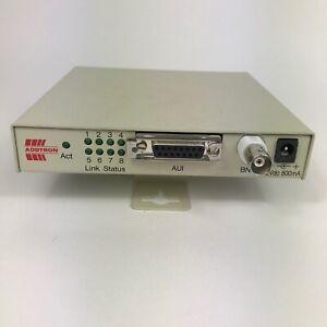 ADDTRON Beige 8 Port Ethernet Network Hub with AUI & BNC Inputs VCCI-1