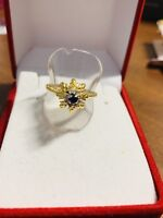 14K Saudi Gold Diamond Ring 8""