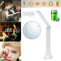 Rechargeable Touch Sensor LED Desk Table  Light Dimmable Foldable Lamp