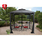 Outdoor Metal Gazebo Garden Patio Wedding Party Canopy Tent w Mosquito Netting