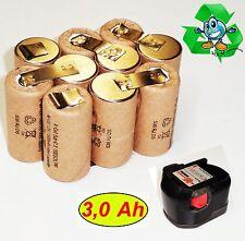 Replacement Battery cells For Original Würth 12 V SD12. m. 3 Ah NiMh Panasonic