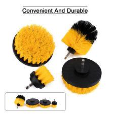 4pcs Round Nylon Bristle Brush Kit Rotary Cleaning Tool Scrubbing Set Attachment