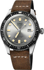 73377204051LS | NEW ORIS DIVERS SIXY-FIVE AUTOMATIC MENS WATCH ON BROWN STRAP
