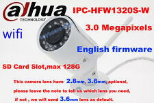 dahua Waterproof IPC-HFW1320S-W 3MP replace HFW4300S IP 2.8mm/3.6mm wifi Camera