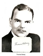 Thomas E Dewey Autograph Governor New York District Attorney Owosso Michigan #3