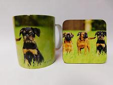 Griffon Bruxellois chien Tasse Et Coaster Set