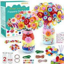 Flower Craft Kit for Kids Make Your Own Flower Bouquet with Buttons and Felt