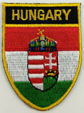 Hungary Flag Shield Crest Patch Embroidered Iron On Sew On Hungarian