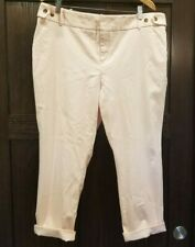 Ava & Viv Fitted Chino Ankle Pants Women's Plus Size 18W Light Pink