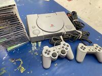 Sony Playstation 1 Console With 22 Games Two Controllers