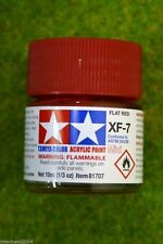 Tamiya Color FLAT RED Acrylic Mini Paint XF7 10mls