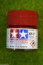 Tamiya Color FLAT RED Acrylic Mini Paint XF7 10mls