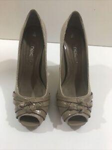 Next Beige Court Womens Shoes Size Uk 3