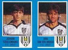377 JOHAN CEULEMANS VAN DEN BROECK BELGIQUE FC.DIEST STICKER FOOTBALL 87 PANINI