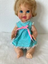 "Vintage 1967 Mattel Baby Small Talk Doll 10"""
