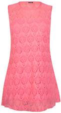 Maglie e camicie da donna rosa aderente in poliestere