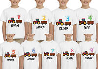 Personalized Kids Childrens T-Shirt Birthday Boys Girls Age Tee
