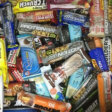 45 Assorted Brand 20 - 32g PROTEIN BARS Supreme Quest MET-Rx Clif Builder