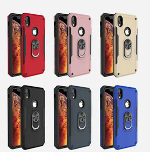 Luxry Case For iPhone  7 8 Plus 11  XS Max,XR 360 ring Kickstand Shockproof Case