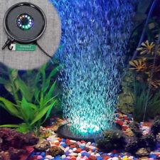 Aquarium Led Air Curtain Submersible Colour Changing Light Pump Bubble Fish Tank