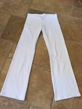 American Apparel White 100% Cotton Drawstring Boot Cut Sweatpants NEW!!! Sz. L
