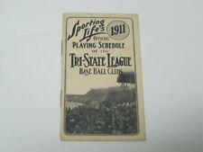 1911 Baseball Schedule of the Tri-State League Baseball Clubs