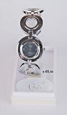 Go Girl Only Mädchen Damen Uhr Silber Schwarz Band silber Armbanduhr elegant