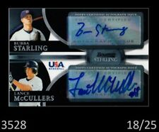 1-2010 BOWMAN STERLING BLACK REF AUTO BUBBA STARLING & LANCE McCULLERS 18/25
