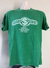 Vtg 70s 80s Hawaii Big Island Dollar Saver T-Shirt Green M Hilo Stedman Hi Cru