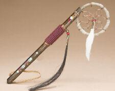 "Native American INDIAN HAND~Made Navajo Dream Catcher Spirit Stick 7.5""- Rust"