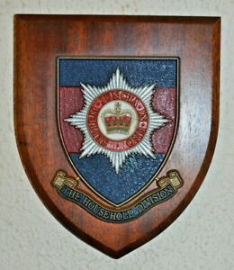 Household Division regimental mess wall plaque shield