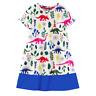 NEW Dinosaur Girls White Short Sleeve Shift Dress 3T 4T 5T 6