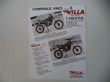 advertising Pubblicità 1983 MOTO VILLA 125 MC A/CROSS 250 MC A